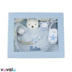 Cajita Personalizada Baby born Azul