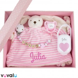 Cajita Personalizada Baby Born Rosa