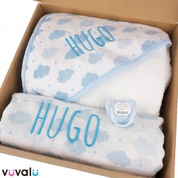 Cajita Personalizada Nubes Azul