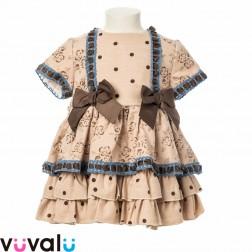 Vestido niña topos modelo 2152