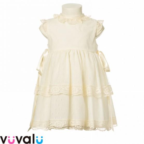 Vestido de niña con capota modelo 23195